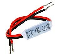Mini Dimmer Controller 3 Keys for 5050 3528 Single Color LED Strip Light (12V 6A)