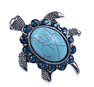 European Turtle Women's Blue Turquoise Statement Rings(1 Pc)