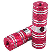 HANGUANG 1 Pair BMX Bike High Strength Solid Aluminum Alloy Rear Front Axle Red Foot Pegs
