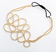 Irregular Chain Cutout Gold Hair Accessories Hairband for Woman