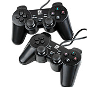 Dilong PU401T USB Dual Shock Wired Controller for PC(2 Controllers)