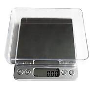Цифровой ЖК-электронные кухонные еда гиря balance1000g / 0,1 г, пластиковые 12.7x10.6x1.9cm