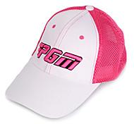 pgm malla rosa + sunproof blanco sombrero del golf transpirable
