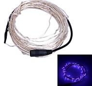 Xinyuanyang®  6W 100-0603 SMD LED Purple Light String Light - Silver + Black (DC 12V / 1000cm)