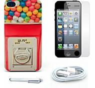 Süßigkeiten Maschine kopieren hartes Argument und Displayschutzfolie und Stift und Kabel für iphone 4 / 4s