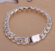 10mm8 Inch Silver Plated Men's Bracelet