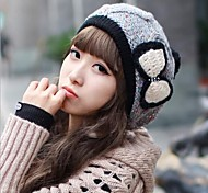 Women's  Fashion Personality Delicate Knitting Keep Warm Bowknot Hat
