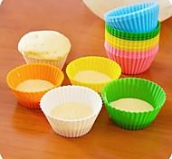 candy Farbe Kieselgel Kuchen 'Formen 12pcs (zufällige Farbe)