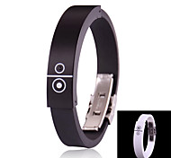 Cool Style Rechargeable Bluetooth Incoming Call Vibrate Alert Bracelet (Black)