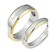 "Golden ""Forever Love"" Between Fashion Titanium Steel Couple Ring"