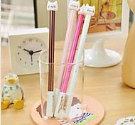 Cute Cat  Design Plastic Gel Pens(Random Color x1pcs)