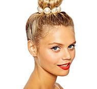 shixin® классический белый жемчуг европейские упругие волосы связей (1 шт)