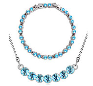 ensolarado elegante diamante conjuntos de jóias
