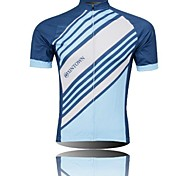 XINTOWN Men 's Twill Breathable Polyester Short Sleeve Cycling Jersey