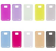 Solid Color Ultra-thin Transparent Back Case for Samsung Galaxy S2 I9100 (Assorted Color)