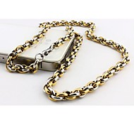 Men's Fashion Mixed Color Titanium Steel Chain Necklace
