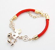 Pony Accessories Golden Red Rope Charm Bracelets