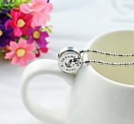 Fashion Couple's Titanium Steel Round Pendant Necklace