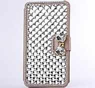 Fashion Crystal Diamond Leather Camellia Full Body Case with Stand for SAMSUNG GALAXY Note 3 N9000