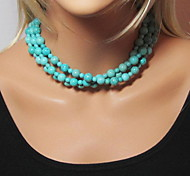 Shixin® Classic Big Small Resin Bead Strand Necklace(1 Pc)