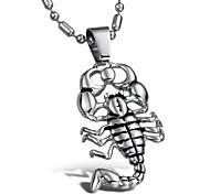 homme superbe personnalité colliers en acier scorpion de titane