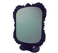 Purple Comestic Mirror with Rose Pattern