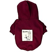 Dog Hoodie Red / Blue Dog Clothes Winter Cartoon