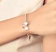 Lureme®Diamond Clover Opal Bracelet