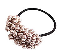 Fashion Handmade Beaded Pearl Hair Ties Random Color