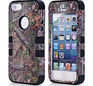 vendita al dettaglio pacchetto pine cassa del pc del modello ramo silicone per iPhone 5 (colori assortiti)