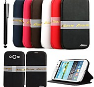 KARZEA® Elegant PU Leather Case with Stand and Stylus for Samsung Galaxy Grand I9080/I9082  (Assorted Colors)