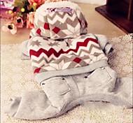 Mode für Haustiere schönen Schnee Wellenmuster vier Füßen Kleidungsstück für Haustiere Hunde (verschiedene Farben, Größen)