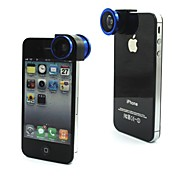 3 In One Phone Lens Macro Lens Wide Lens Fisheye Lens Quick-Change Mini Canera for iPhone 4/4S