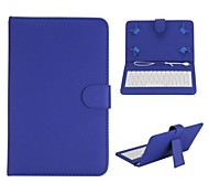 Keyboard Magnetic Flip  with Holder Lichee Texture Leather Case for 7 inch Universal Tablet PC(Assorted Colors)