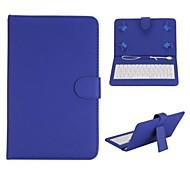 Teclado de la tapa magnética con funda de piel de textura titular lichee para 7 pulgadas Tablet PC universales (colores surtidos)