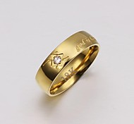 Lureme®Men's  Gold Plated Steel Ring