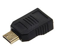 de alta velocidade mini-v1.4 HDMI macho para fêmea adaptador mini HDMI v1.4