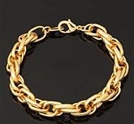 u7® grande 18k oro grueso lleno cadena de eslabones retorcidos 11mm pulsera los 21cm de los hombres