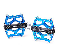 INBIKE 6061 Aluminum+CNC Blue 2 Bearings Anti-Slip Bike Bicycle Pedals