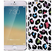 Bling Style Colorful Leopard Pattern Plastic PC Back Cover for iPhone 6