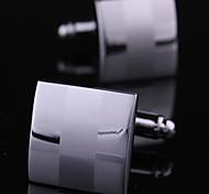 xinclubna® argent cuivre manchette'S 1.5cm mode hommes (argent) (de 1 paire)