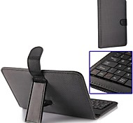 Keyboard Leather Case with Holder Data Cable Touch Pen for Ultrathin 7 Inch Tablet PC
