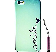 Simple Smile Pattern Hard Case & Touch Pen for iPhone 4/4S