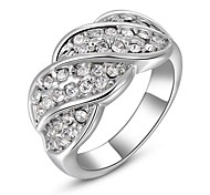 Gorgeous Fashion Jewelry  Silver plated  Gold plated with Rhinestone Rings (one piece)