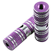 HANGUANG 1 Pair BMX Bike High Strength Solid Aluminum Alloy Rear Front Axle Purple Foot Pegs