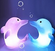 Multicolor Dolphin Design Plastic Night Light (1pcs)