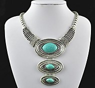 Green Statement Necklaces Alloy Party / Daily Jewelry