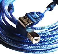 3m 9,8 pés USB2.0 um macho para b macho cabo USB2.0 para mp3 e mp4 frete grátis