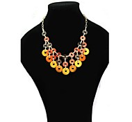 Bohemia Shell Color Short  Necklace