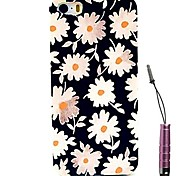 Little Chrysanthemum Pattern Hard Case & Touch Pen for iPhone 4/4S